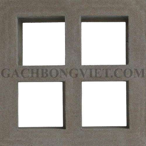 Gạch bông gió, Window 4 xám 023X