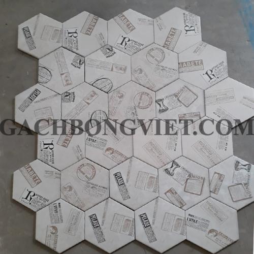Gạch bông men lục giác, LGM-011