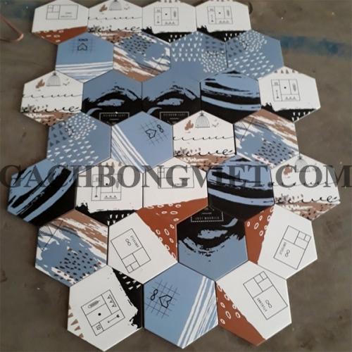 Gạch bông men lục giác, LGM-022