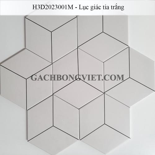 Gạch bông men lục giác, LGM-Tia trắng