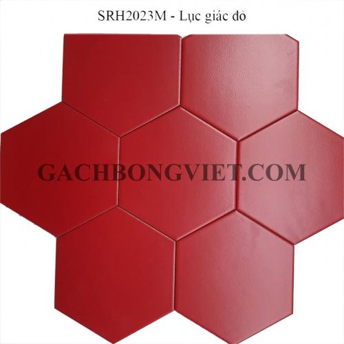 Gạch bông men lục giác, LGM - Đỏ