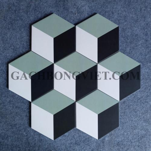 Gạch bông men lục giác, LGM - FL23025