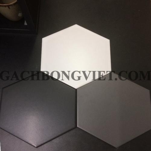 Gạch bông men lục giác, LGM - Mix trắng đen xám