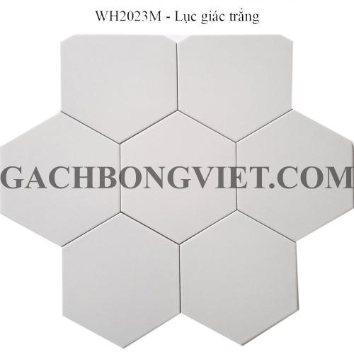 Gạch bông men lục giác, LGM - Trắng