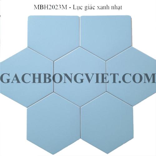 Gạch bông men lục giác, LGM - Xanh nhạt