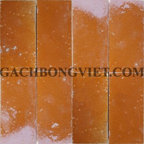 Gạch gốm nung 7.5x15 cm, Cam