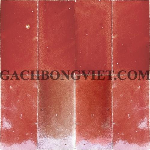 Gạch gốm nung 7.5x15 cm, Đỏ cam