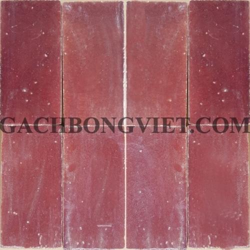 Gạch gốm nung 7.5x15 cm, Đỏ đô thô