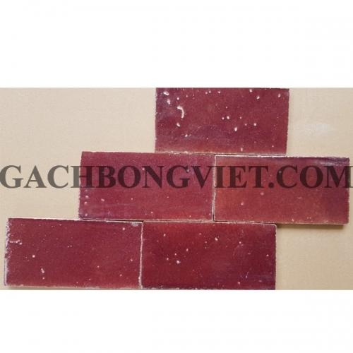 Gạch gốm nung 7.5x15 cm, Đỏ sậm