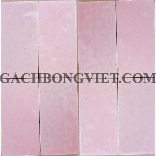 Gạch gốm nung 7.5x15 cm, Hồng