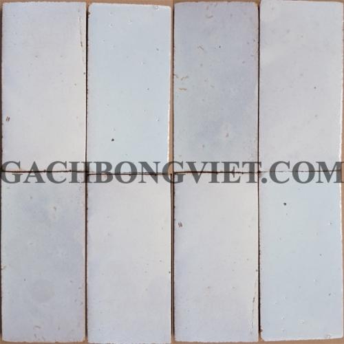 Gạch gốm nung 7.5x15 cm, Trắng