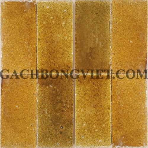 Gạch gốm nung 7.5x15 cm, Vàng