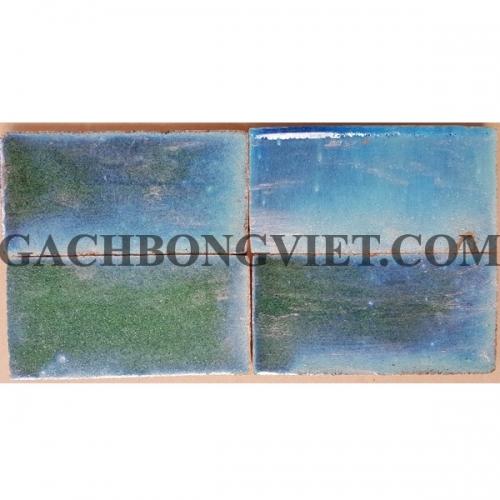 Gạch gốm nung 7.5x15 cm, Xanh dương - Xanh lá