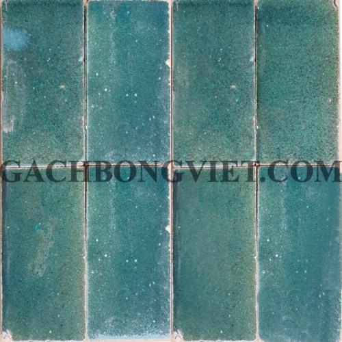Gạch gốm nung 7.5x15 cm,Xanh lá