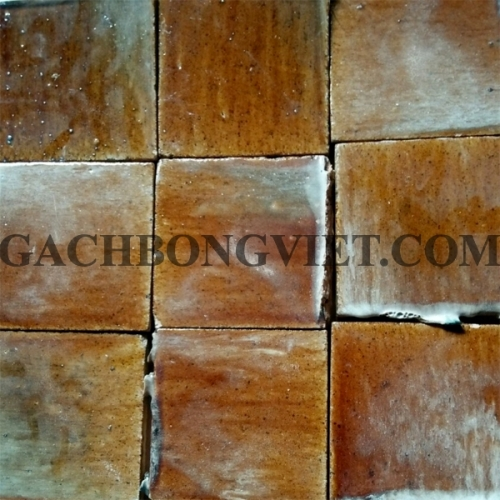 Gạch gốm nung 10x10 cm, Cam