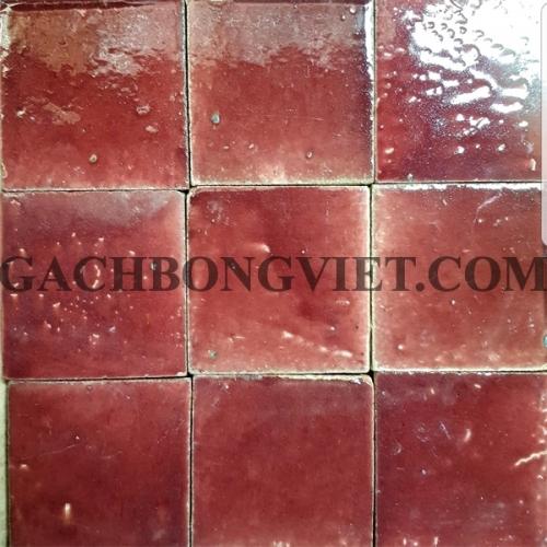 Gạch gốm nung 10x10 cm, Đỏ hồng