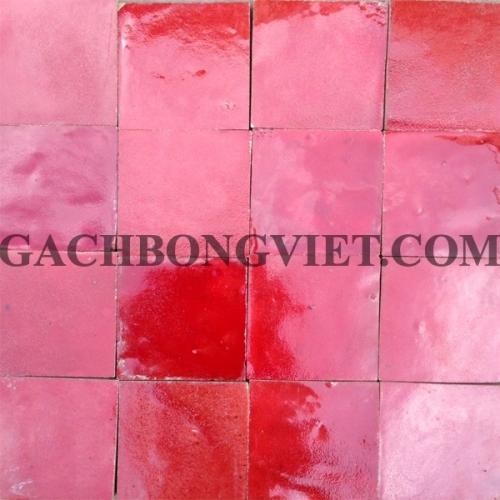 Gạch gốm nung 10x10 cm, Đỏ tươi