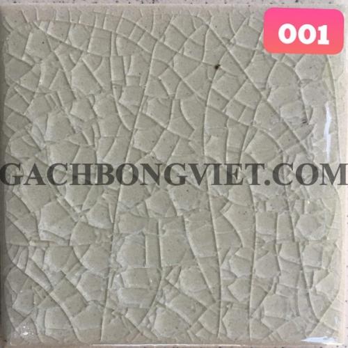 Gạch gốm nung men rạn 10x10cm, MRB-001