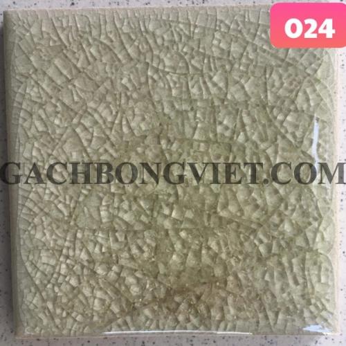 Gạch gốm nung men rạn 10x10cm, MRB-024