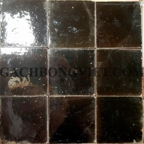 Gạch gốm nung 10x10 cm, Nâu đen