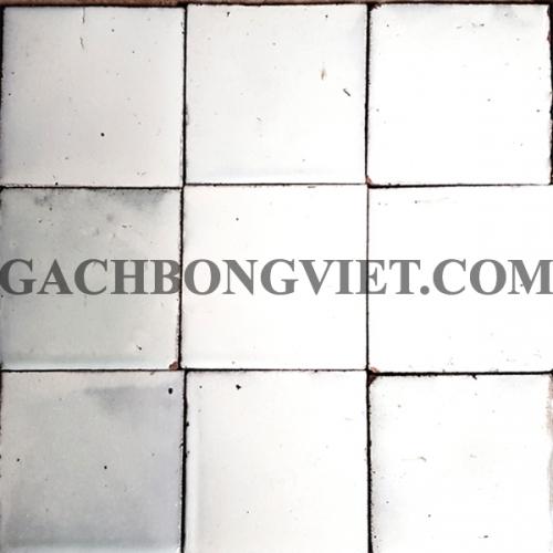 Gạch gốm nung 10x10 cm, Trắng
