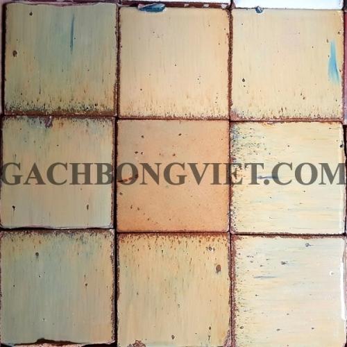 Gạch gốm nung 10x10 cm, Vàng kem