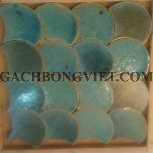 Gạch gốm nung Vẩy cá, xanh lá