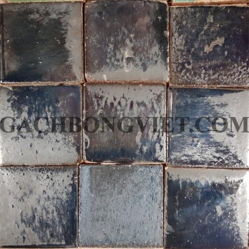 Gạch gốm nung 10x10 cm, Xám đen