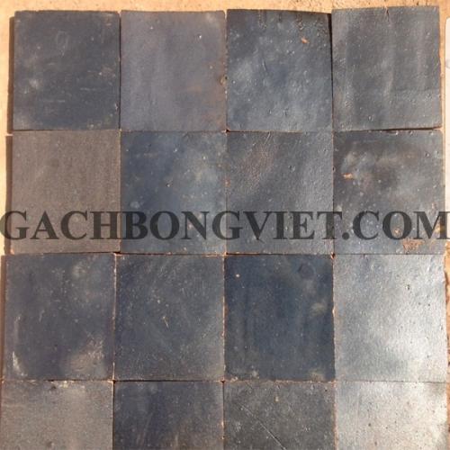 Gạch gốm nung 10x10 cm, Xám thô