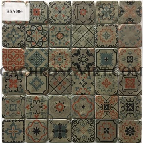 Gạch mosaic hoa văn, RSA006