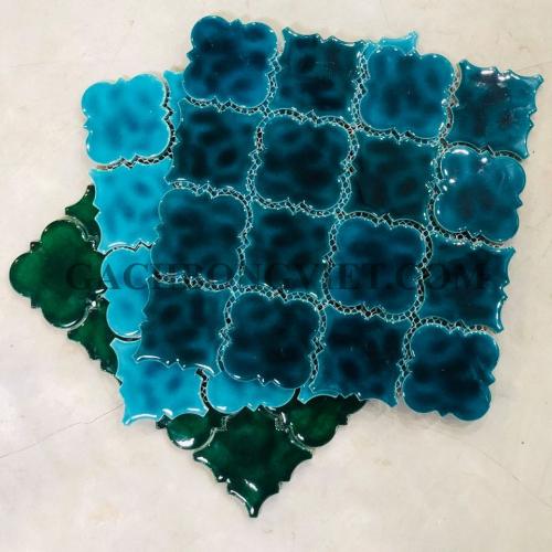 Gạch mosaic men, M-W048