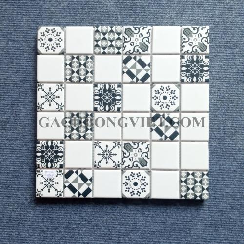 Gạch mosaic men, M-W059