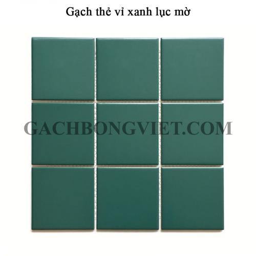 Gạch mosaic men, Xanh lục mờ