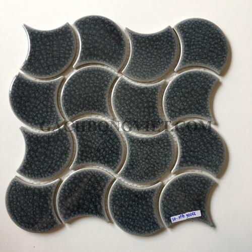 Gạch mosaic vảy cá, M-SH-XFB90056